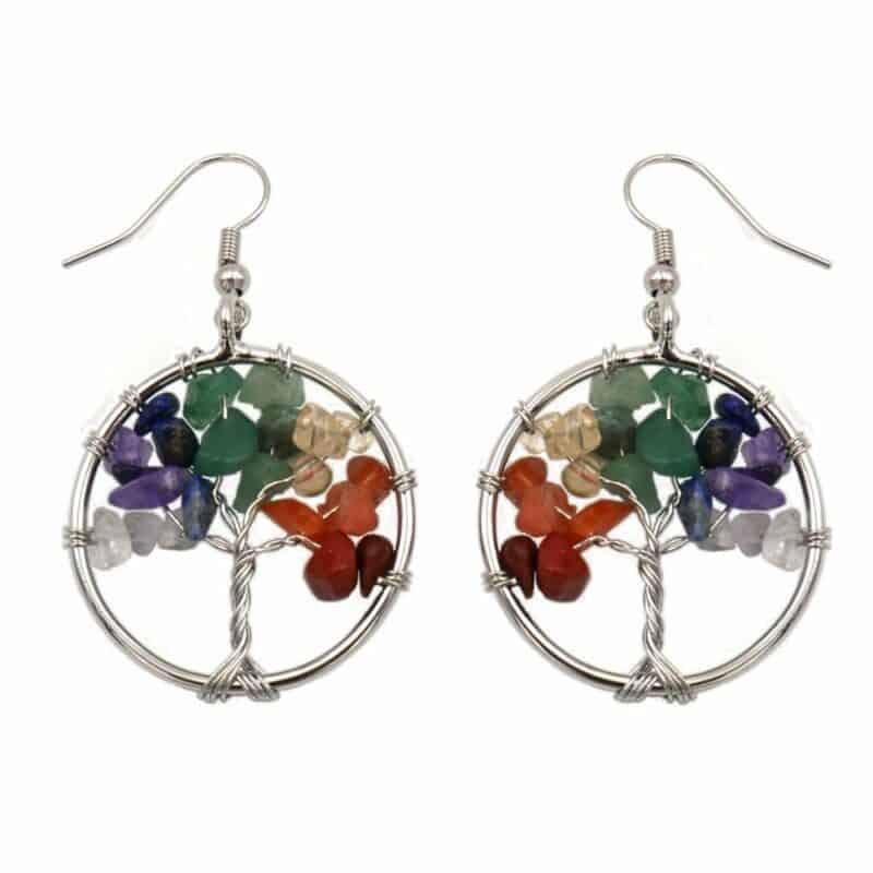 Pendientes Tree of Life 7 chakras
